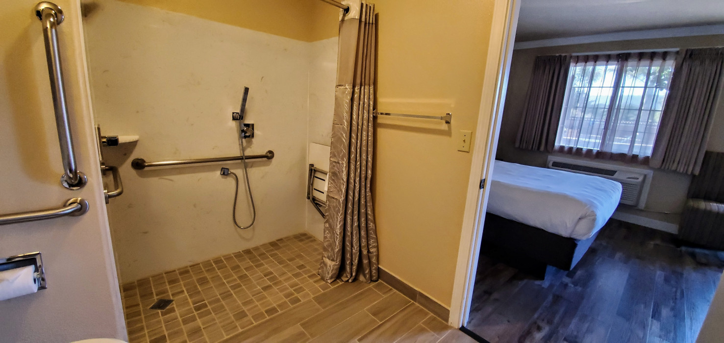 Roll In Shower for Wheel Chair Accessibility